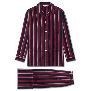 Derek Rose London Classic Fit Stripe Pyjamas. XL